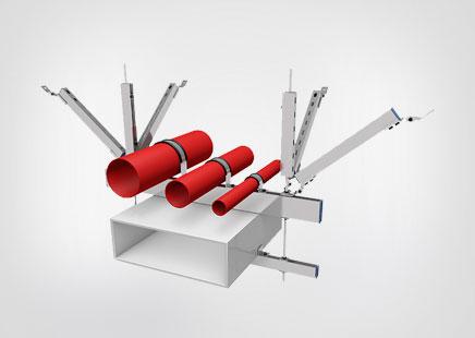 单管单向抗震支架