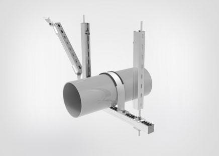 水管单向抗震支架
